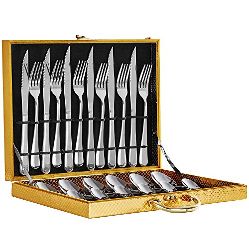 Stainless Steel 24piece Spoon and Fork - 6