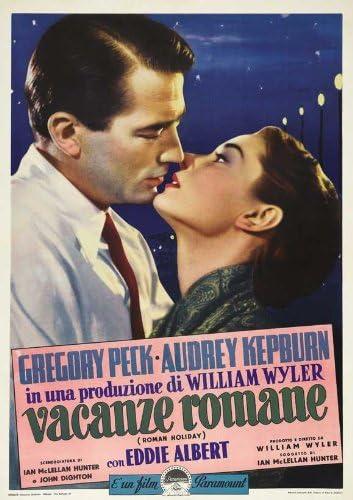 Vacanze ROMANE 8x10 PHOTO GREGORY PECK AUDREY HEPBURN 1953 Classic