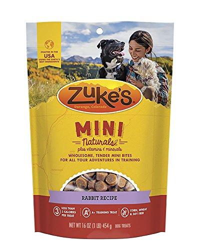 Zuke's Natural Training Dog Treats; Mini Naturals Recipe; Made in USA - Training Rabbit