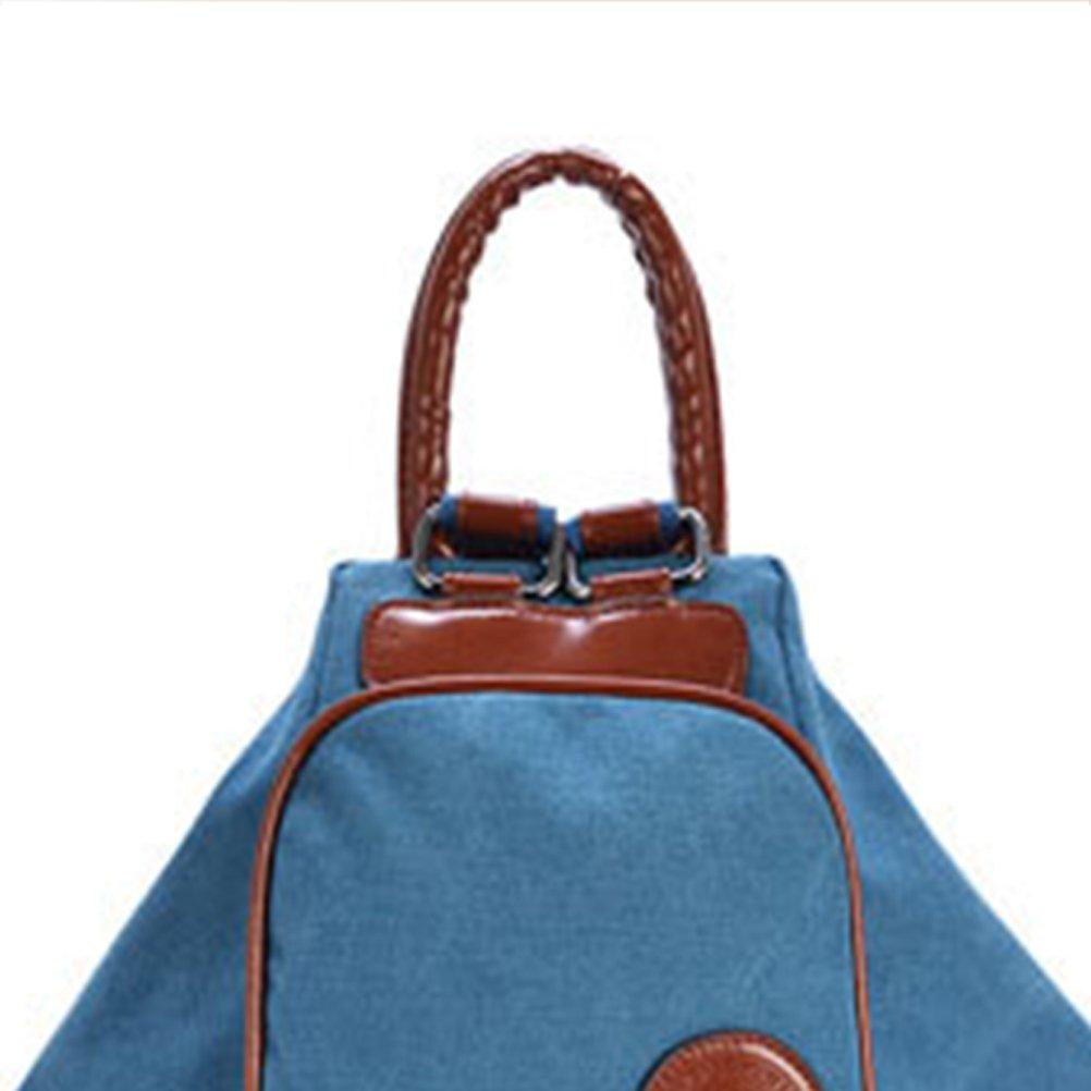 Zhrui Rucksack Loirsir Frau Schul Schultasche Handtasche Schultertasche Schultertasche Schultertasche für Wandern Schule Reisen (Farbe   Blau, Größe   Einheitsgröße) 0c41a0