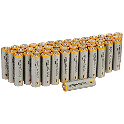 - 51miy7FsB1L - AmazonBasics AA Performance Alkaline Batteries (48 Count) – Packaging May Vary