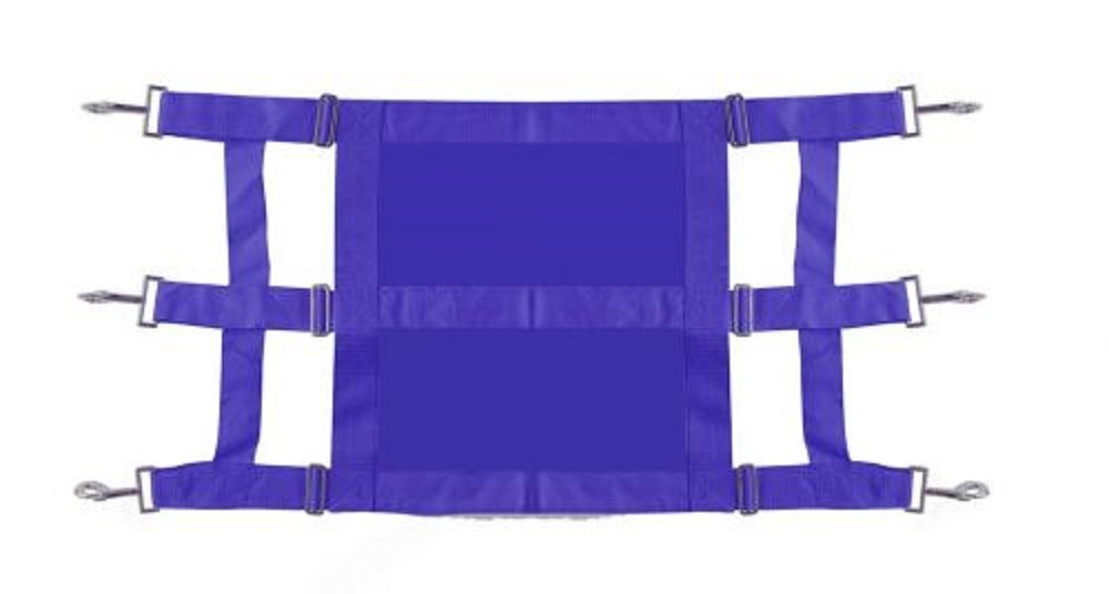 Showman Heavy Duty Webbed Nylon Solid Front Stall Guard Horse Pony Adjusts 36-48 (Royal Blue)