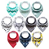 Upsimples Bandana Baby Drool Bibs For Drooling And...