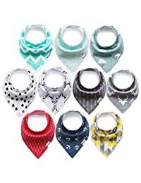 10-Pack Bandana Bibs Upsimples Baby Drool Bibs for Drooling and Teething, Organic Cotton, Super Absorbent, 10 Stylish Design for Baby Boys Girls Toddler, Baby Shower Gift Set BOBEBE Online Baby Store From New York to Miami and Los Angeles