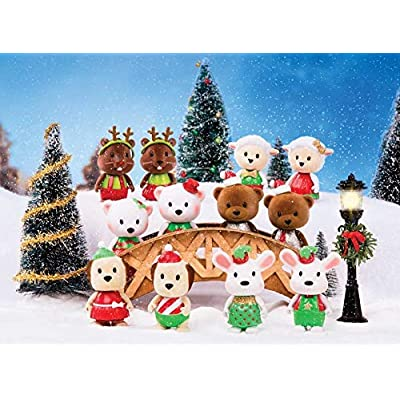 Li'l Woodzeez Surprise Bobbleez - Collectible Animal Figurines - Holiday Series 1: Toys & Games