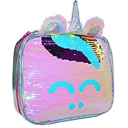 Reversible Sequin Insulated Lunch Bag
