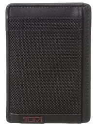 Tumi Men's Alpha Money Clip Card Case, Black, One Size