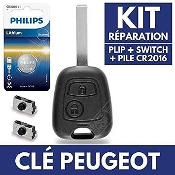 Carcasa de llave Jongo caja mando a distancia Peugeot 207 ...