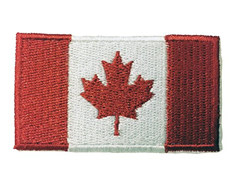 Flag Embroidered Iron on Sew on Badges Patches - Americas (Country: Canada)