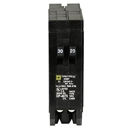 Cool Square D By Schneider Electric Homt3020Cp Homeline 1 30 Amp 1 20 Amp Wiring Cloud Hisonuggs Outletorg