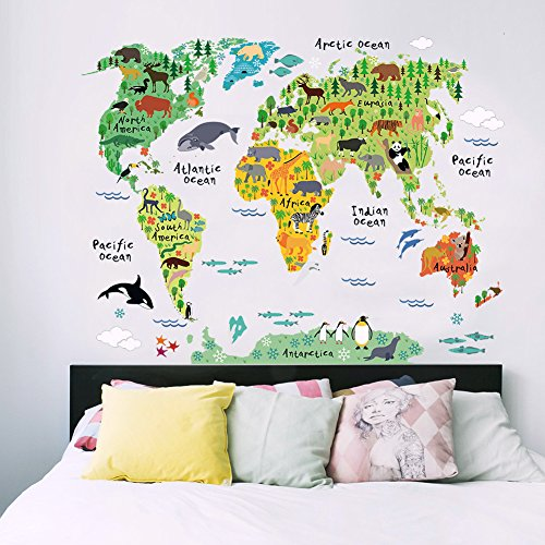 Dry Erase Wall Map Mural - 5