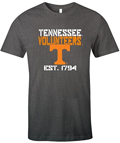 Image One NCAA Tennessee Volunteers Est Stack Jersey Short Sleeve T-Shirt, Asphalt,Asphalt,Medium - Tennessee Volunteers College Basketball