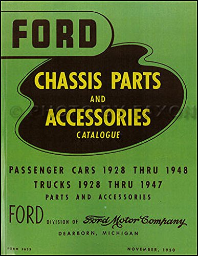 """Read Online COMPLETE & UNABRIDGED 1939 1940 1941 1942 1946 1947 1948 FORD MOTORS FACTORY PASSENGER CAR MASTER PARTS & ACCESSORIES CATALOG - MANUAL - """"GREEN BIBLE"""" ALL MODELS - BODY & CHASSIS ebook"""
