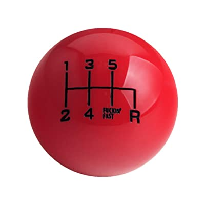 DEWHEL Fing Fast Shift Knob 6 Speed Short Throw Shifter M12x1.25 M10x1.5 M10x1.25 M8x1.25 (Red): Automotive