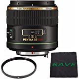 Pentax Telephoto 55mm f/1.4 DA SDM Autofocus Lens + UV Filter + MicroFiber Cloth 6AVE Bundle