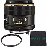 Pentax Telephoto 55mm f/1.4 DA SDM Autofocus Lens + UV Filter + MicroFiber Cloth 6AVE Bundle