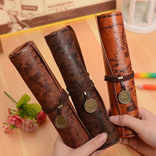 Weimay 1 Pcs PU Leather Pencil Case Travel Drawing Porta Lápices Más Adecuado para Escritores Artistas y Estudiantes…