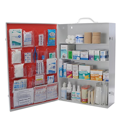 4 Shelf First Aid Cabinet With ANSI Required Items No Medications by MFASCO
