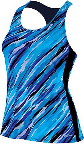 Dolfin Women's Aquashape Racerback Tankini Swimsuit Top (Cascade Turquoise, Large)