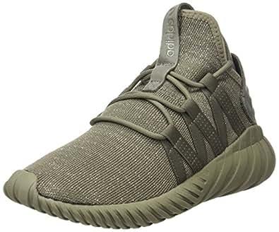 adidas Originals Tubular Dawn Womens Trainers/Shoes - Black-Khaki-5.5