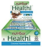 Nutribar Health Brand All Natural Snack Bars – 12 Count, 1.3oz Bars (Coconut Hazelnut Bars)
