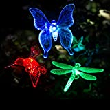 GIGALUMI Solar Garden Lights Outdoor - 3 Pack Solar Stake Lights Multi-Color Changing LED Garden Lights, Premium Butterfly Decorative Lights for Path, Yard, Lawn, Patio.