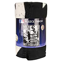 "MLB Team ""Vintage Baseball"" Lightweight Fleece Throw Blanket (Chicago Whitesox, 50"" x 60"")"