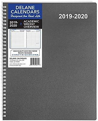 Amazon.com: 2019-2020 Agenda semanal para citas, 8.5 x 11 ...