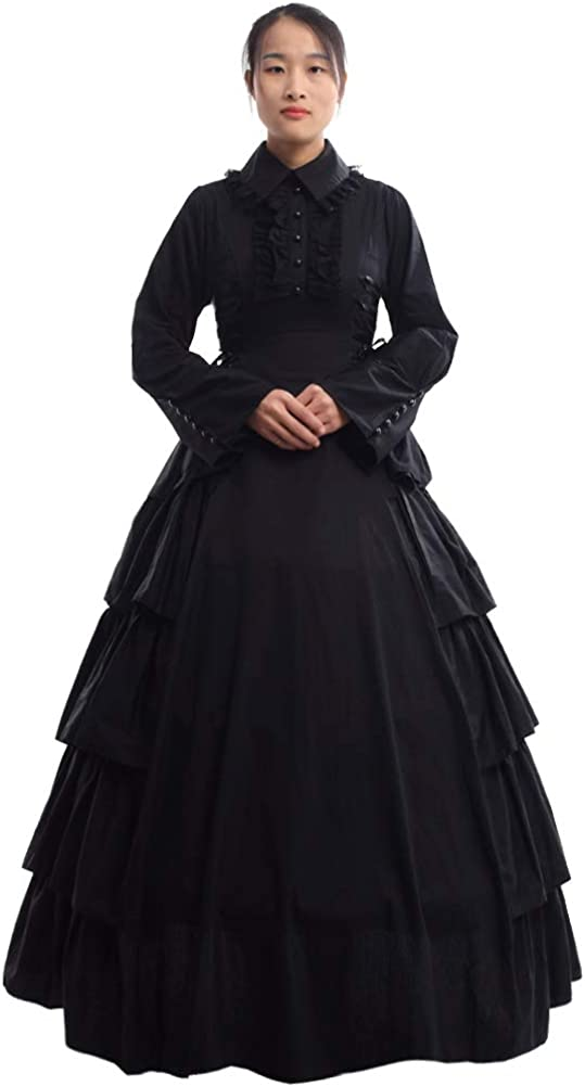 Victorian Clothing, Costumes & 1800s Fashion GRACEART Medieval Victorian Gothic Ball Gown Dress Cosutume £62.99 AT vintagedancer.com