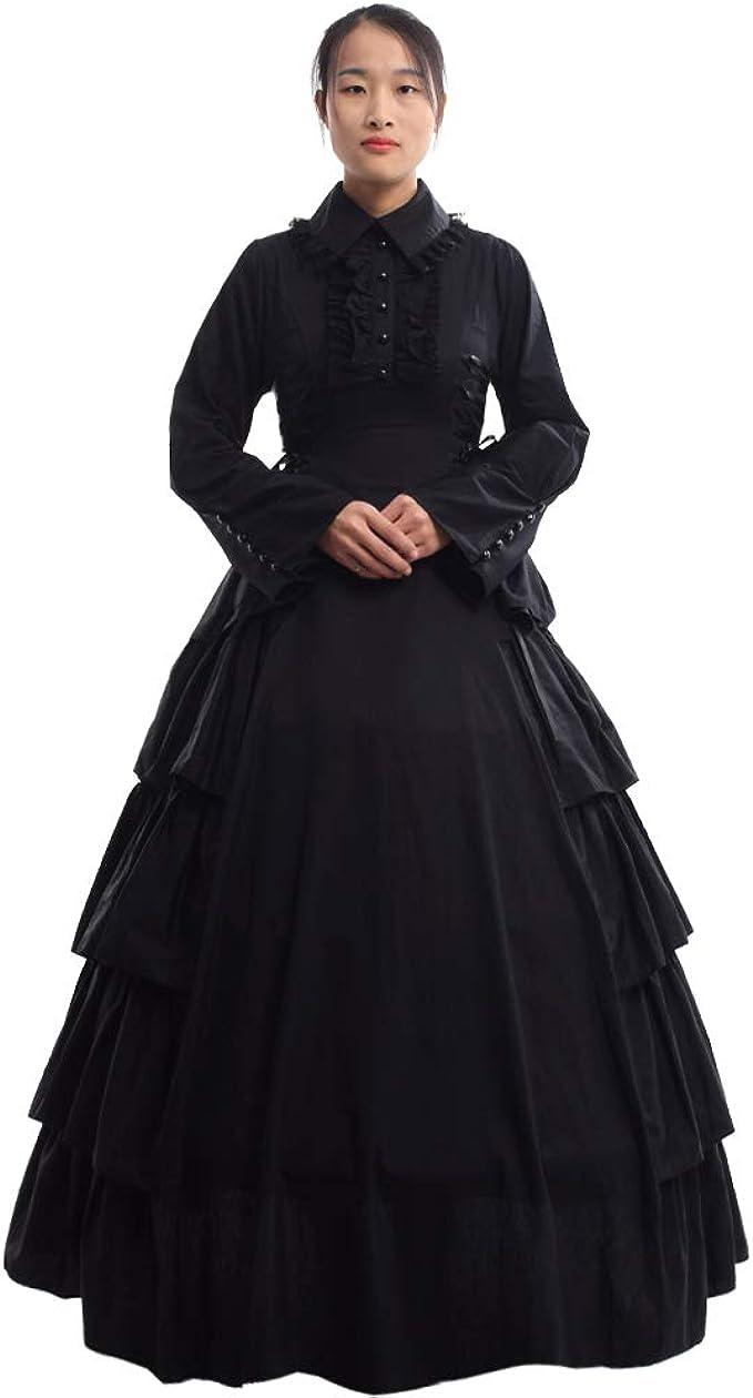GRACEART Medieval Victoriano Gótico Pelota Vestido Vestir Disfraz ...