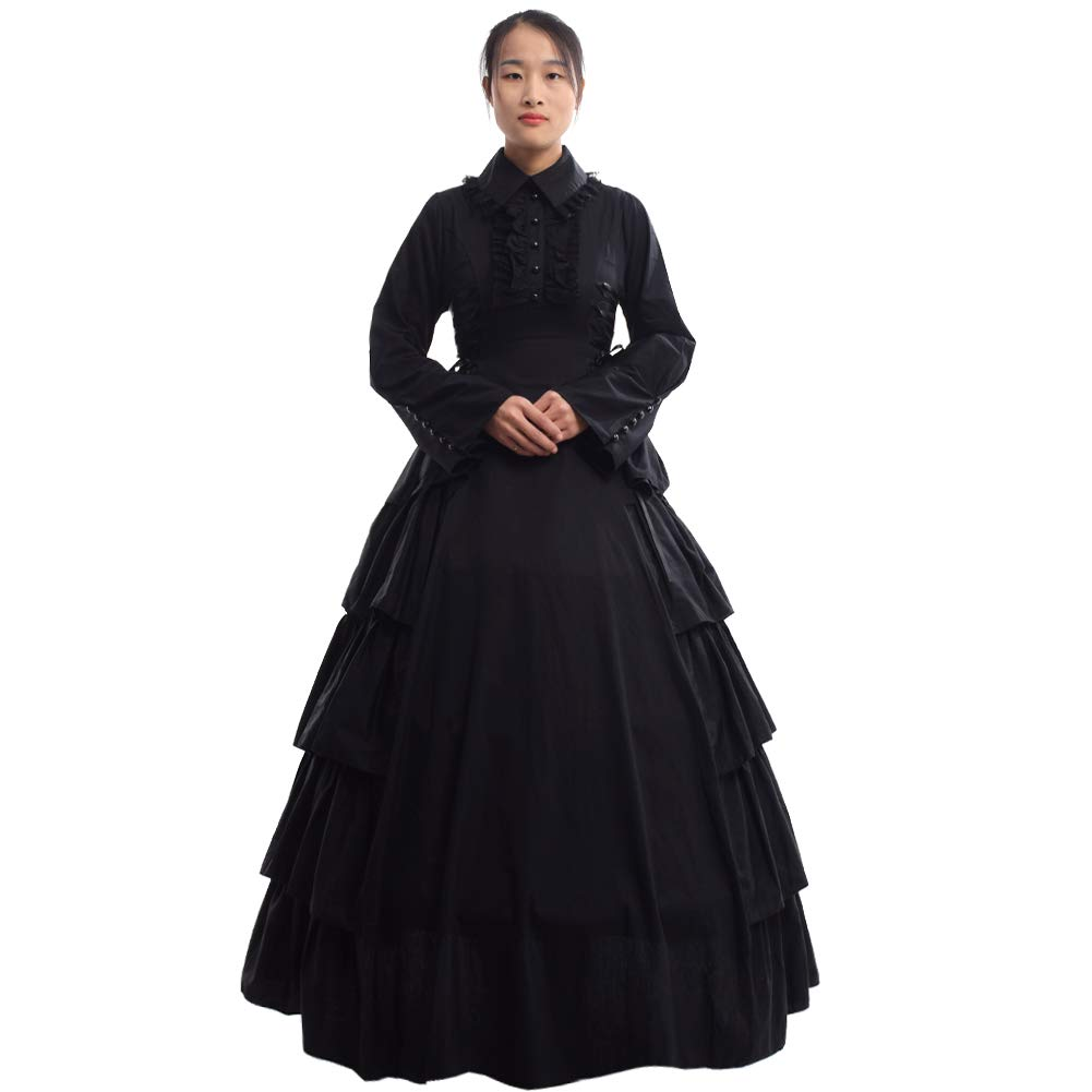 Victorian Dresses | Victorian Ballgowns | Victorian Clothing GRACEART Medieval Victorian Renaissance Ball Gown Fancy Dress Cosutume $72.99 AT vintagedancer.com