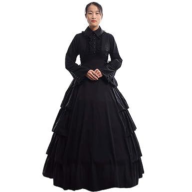 65992c98a0 Amazon.com  GRACEART Medieval Victorian Renaissance Ball Gown Fancy Dress  Cosutume  Clothing