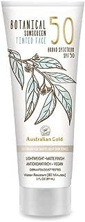 product image for NEW Australian Gold Botanical Sunscreen Tinted Face BB Cream SPF 50, 3 Ounce | Fair-Light | Broad Spectrum | Water Resistant | Vegan | Antioxidant Rich | Same formula as Original Botanical SPF 50 Tinted Face Lotion: B01M8G39OW