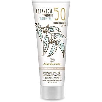 Australian Gold Botanical Sunscreen Tinted Face Bb Cream Spf 50 3 Ounce Fair Light Broad Spectrum Water Resistant Vegan Antioxidant Rich Amazon Sg Beauty