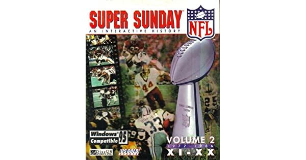 Amazon.com: NFL Super Sunday: An Interactive History, Vol. 2 - 1977 to 1986: Video Games