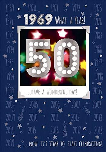 Tarjeta de 50 cumpleaños 1969 año en que naciste hombre ...