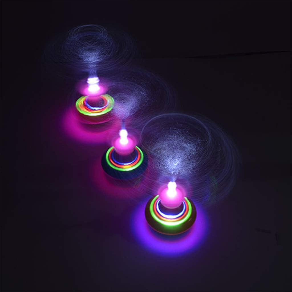 Nouveaut/é Lumi/ère Fibre Toupie Laser Musique Musique Luminous Gyro Light Up Kid Jouet
