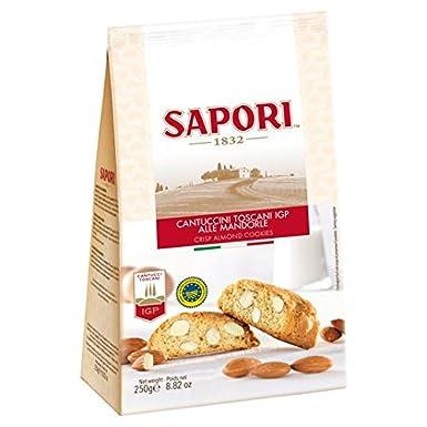 250 g de almendras Sapori Cantuccini Bolsa: Amazon.es: Alimentación y bebidas