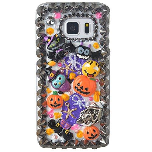 [Halloween Theme Phone Case for Samsung Galaxy S7 Edge,Yaheeda 3D Handmade Rivets Pumpkin Demon Cartoon Design Clear Cellphone] (Handmade Candy Costumes)