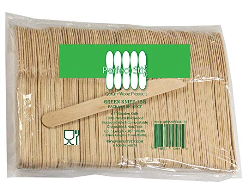 Perfect Stix Wooden Disposable Cutlery Knifes 6