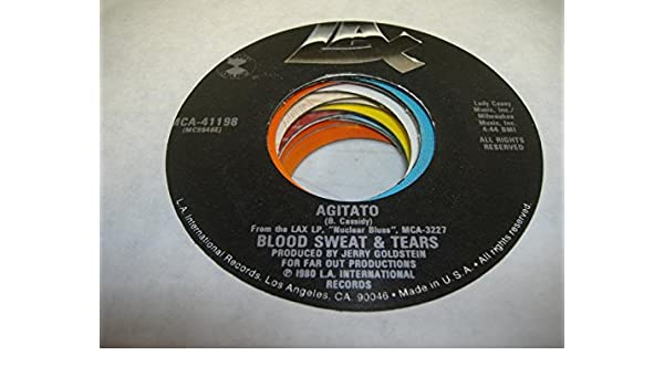 BLOOD, SWEAT & TEARS 45 RPM Agitato / NULL: SWEAT & TEARS BLOOD ...