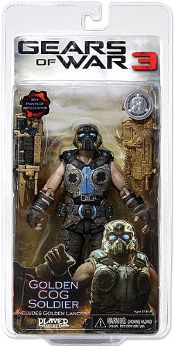 Gears of War 3 Exclusive Golden Cog Soldier with Golden Lancers