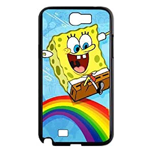 Sponge Bob Samsung Galaxy Note 2 7100 Black Cell Phone Case GSZWLW2081 Clear Phone Cases