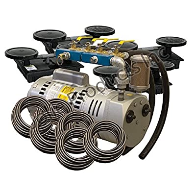 EasyPro PA75W Rotary Vane Pond Aeration System 3/4 HP Kit with Weighted Tubing