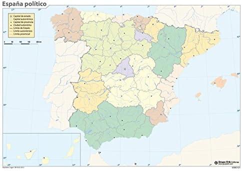 Grupo Erik Editores Mapa Mudo España Politica: Amazon.es: Oficina ...