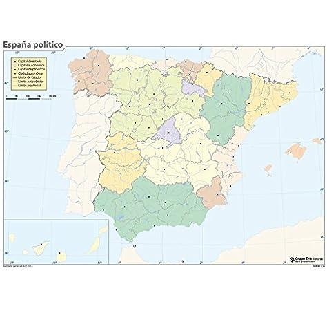 Grupo Erik Editores Mapa Mudo España Politica: Amazon.es: Oficina y papelería
