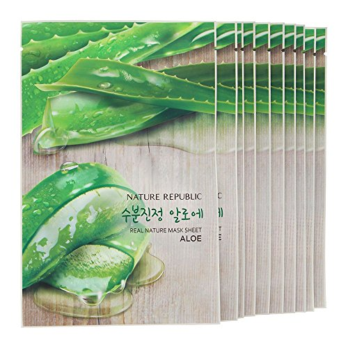 Nature Republic Real Nature Mask Sheet - 10 Sheets Aloe