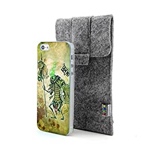 CaseCityLiu - Solider Chinese Zombie Myth 3D Design Hard Case Cover for Apple iPhone 5 5s 5th 5g 5Generation Come With FREE Non Woven Packing Bag