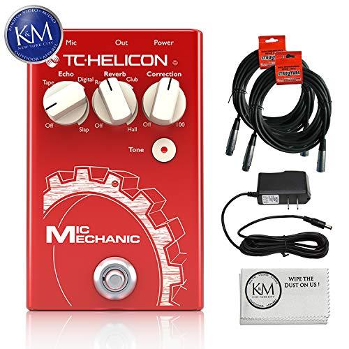 - TC-Helicon Mic Mechanic 2 Pedal + (2) XLR Cables + 9V Power Supply + K&M Cloth