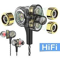 WSCSR In-Ear Headphones Earbuds High Resolution Heavy...